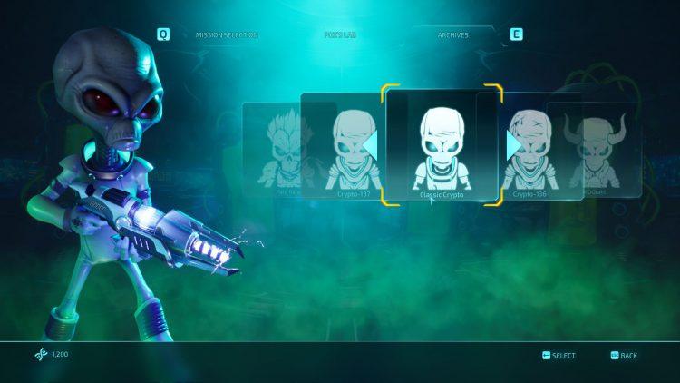 Изображение классической крипто-кожи в игре «Уничтожить всех людей» (2020).