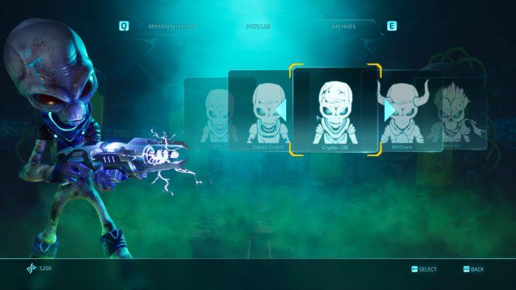 Изображение кожи Crypto-136 в игре Destroy All Humans.