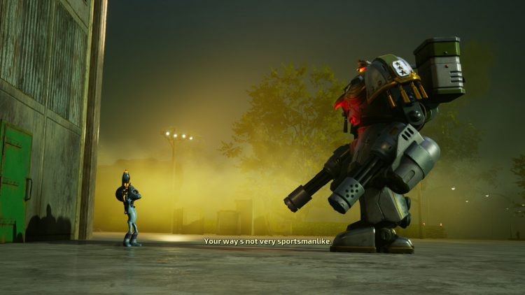 Image showing the Robo-Armquist boss in Destroy All Humans (2020).