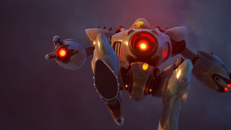 Image showing the Robo-Prez boss in Destroy All Humans (2020).