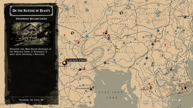 Image showing where to start the Naturalist role in Red Dead Online.