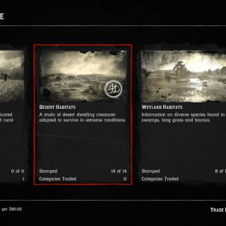 Image showing the Desert Habitat Category in Red Dead Online.