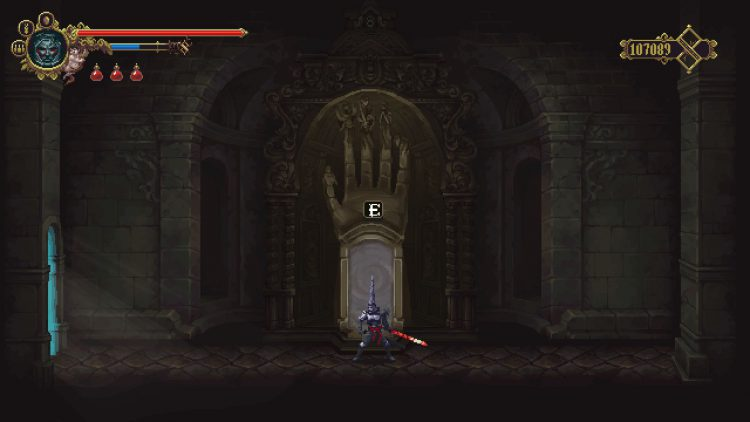 Image showing a fast travel portal in Blasphemous.