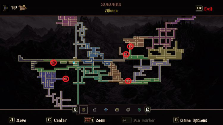 Image showing the Quicksilver Locations Map for Blasphemous.