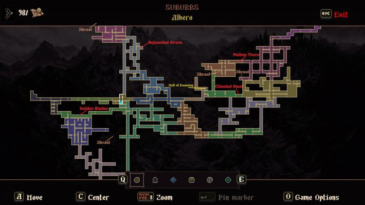 Image of a Amanecidas of the Miracle Locations Map for Blasphemous DLC.