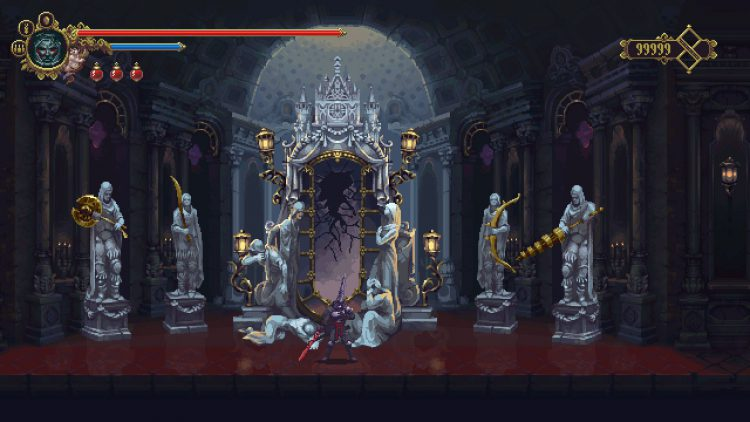 Image showing the Hall of the Dawning in Blasphemous.