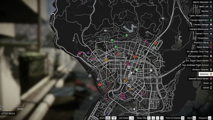 Image showing where to start Solomon's movie prop hunt mission in GTA Online.