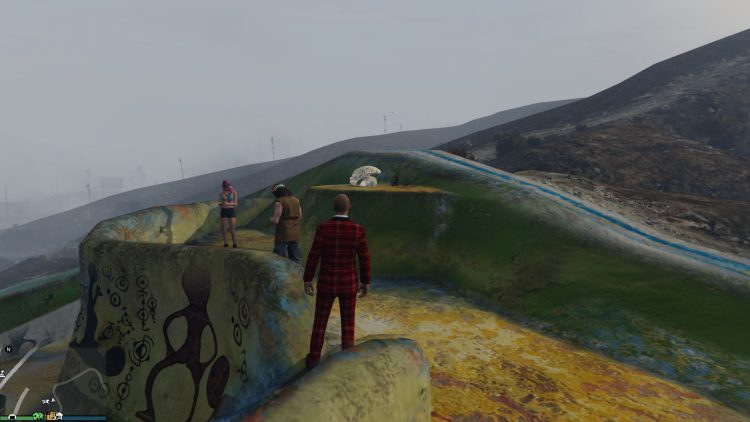 Image showing the location of the alien prop in GTA Online.
