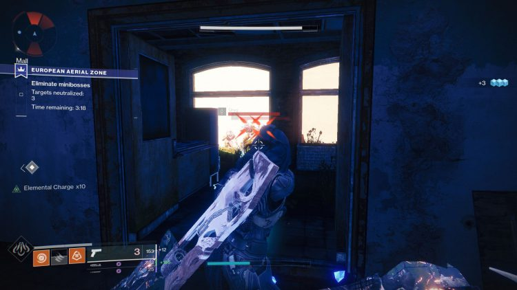 Image showing a screenshot of the European Aerial Zone Event in Destiny 2.