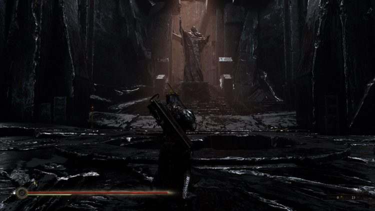 Image showing how to get through Dim Gate in Mortal Shell.