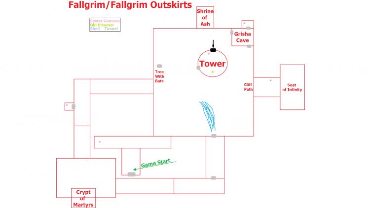 Image showing a map of the Fallgrim/Fallgrim Outskirt layout.