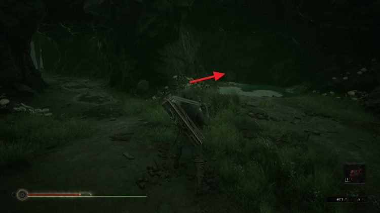 Image showing the tunnel to enter in the Grisha boss room to reach the Shrine of Ash.