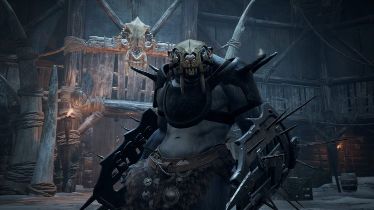 Image showing the Obryk, The Shield Warden boss in Subject 2923 of Remnant From the Ashes.