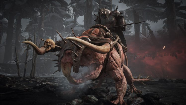 Image showing the Brudvaak and Vargr boss in Subject 2923 in Remnant From the Ashes.