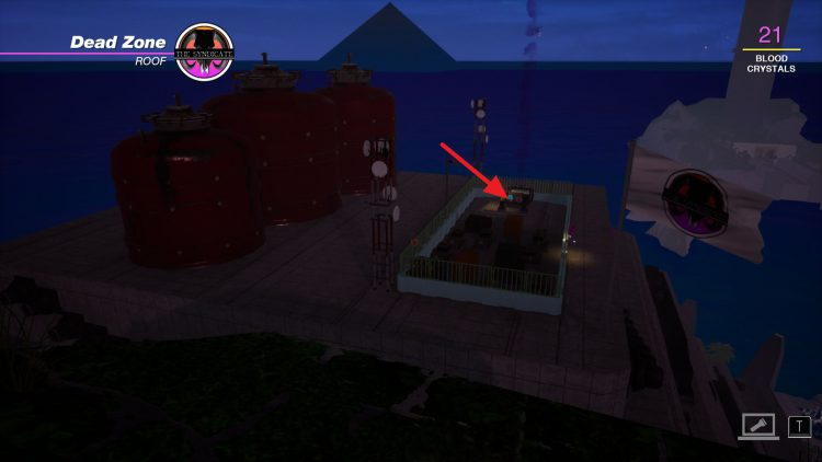 Image showing how to cuase a gas leak on the Dead Zone building in Paradise Killer.