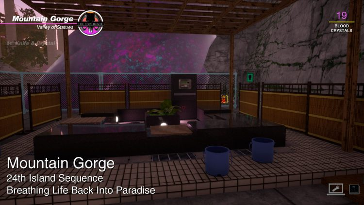 Image showing the location of the Meditation ability in Paradise Killer.