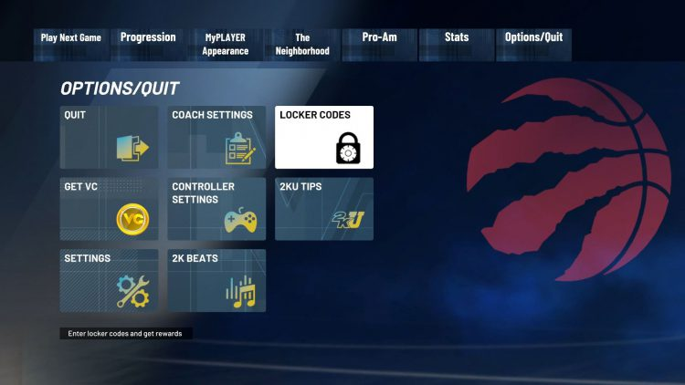Image showing How to Input Locker Codes in 2K21.
