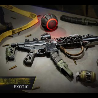 Featured image showing the Backfire Exotic on How to Get the Season 3 - Concealed Agenda Exotics guide for The Division 2.