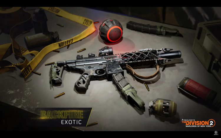 Image showing the Backfire Exotic in The Division 2's Season 3 - Concealed Agenda.