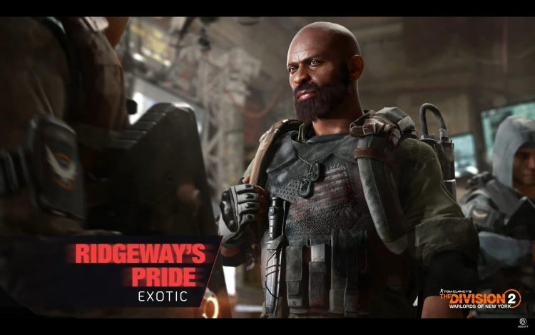 Image showing the Ridgeway's Pride Exotic Chest in The Division 2.
