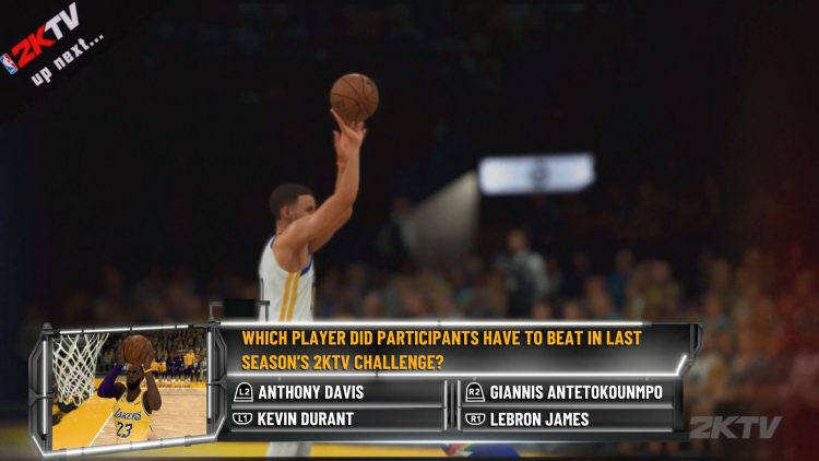 Image showing on the NBA 2K21 Episode 4 Question Answers guide.