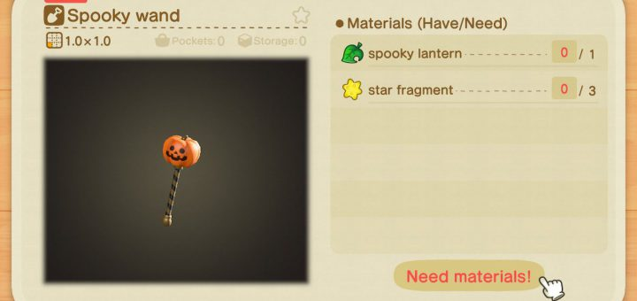 Featured image on Animal Crossing New Horizons Spooky Wand guide.