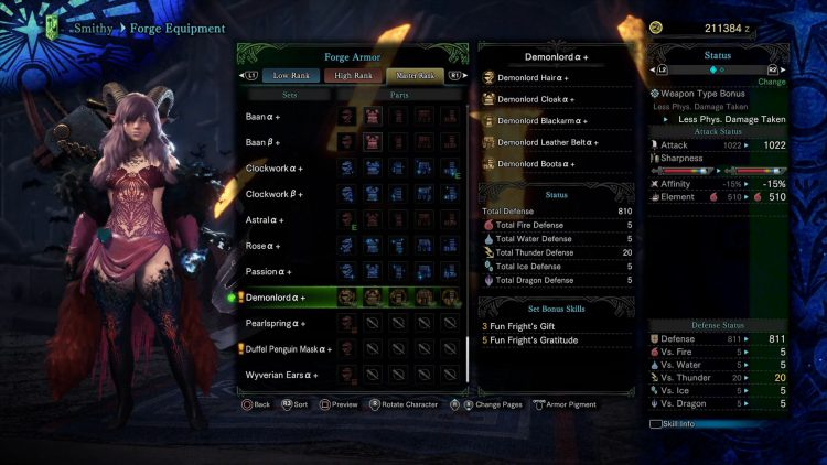 Image showing the Demonlord set in Monster Hunter World Iceborne.