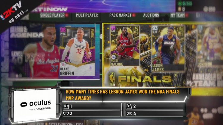 Image showing a question asked during NBA 2K21 2KTV episode 7.