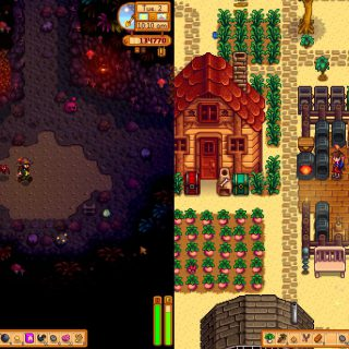 Image showing a screenshot of Stardew Valley Split-Screen.