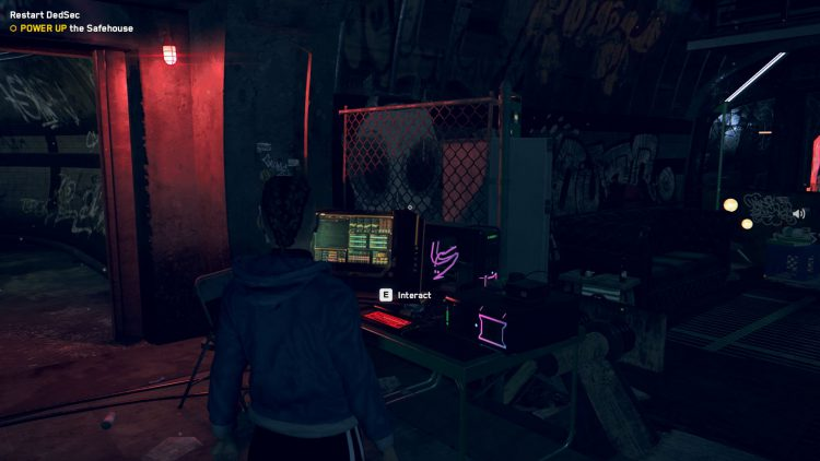 Image showing how to power up the safehouse in Watch Dogs Legion.