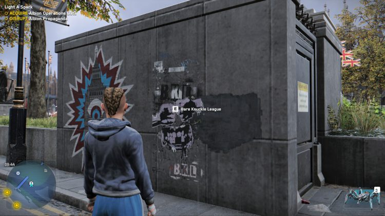 Image showing where to start the Bare Knuckle League in Watch Dogs Legion.