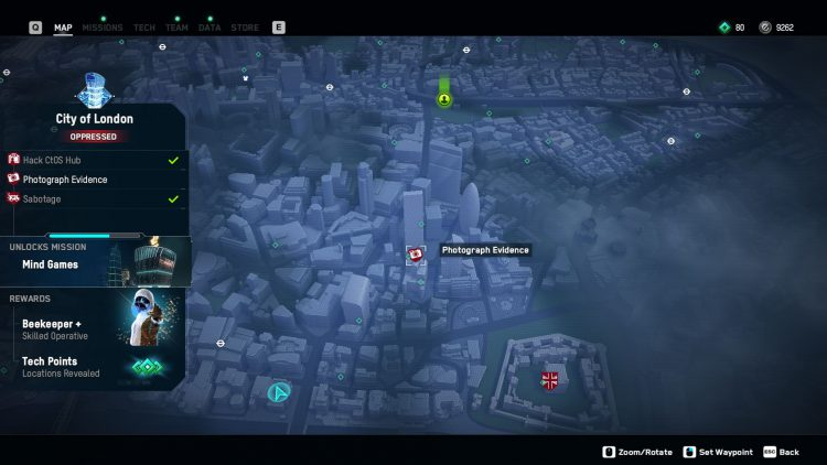 Image showing an activity to complete to turn a borough defiant in Watch Dogs Legion.