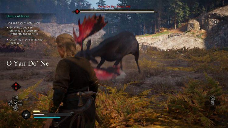 Image showing the O Yan Do' Ne legendary animal in AC Valhalla.