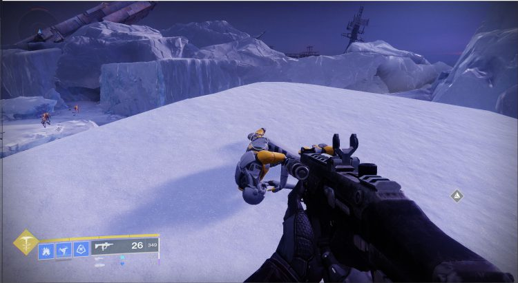 Image showing the dead Exo in Cadmus Ridge.