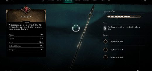 Featured image on Assassin's Creed Valhalla Gungnir Spear Guide.