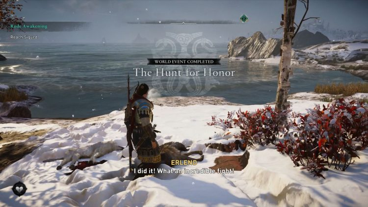 Image showing The Hunt for Honor World Event screen.