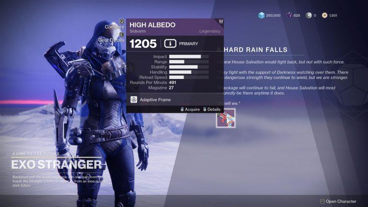 Image showing the A Hard Rain Falls reward.