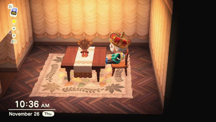 Image showing some of the Turkey Day Rewards in Animal Crossing New Horizons.