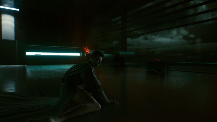 Image showing a portion of the Hanako's Plan ending in Cyberpunk 2077.