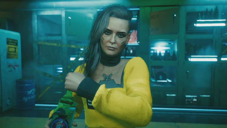 Image showing a screenshot from the Rogue's Plan Ending in Cyberpunk 2077.
