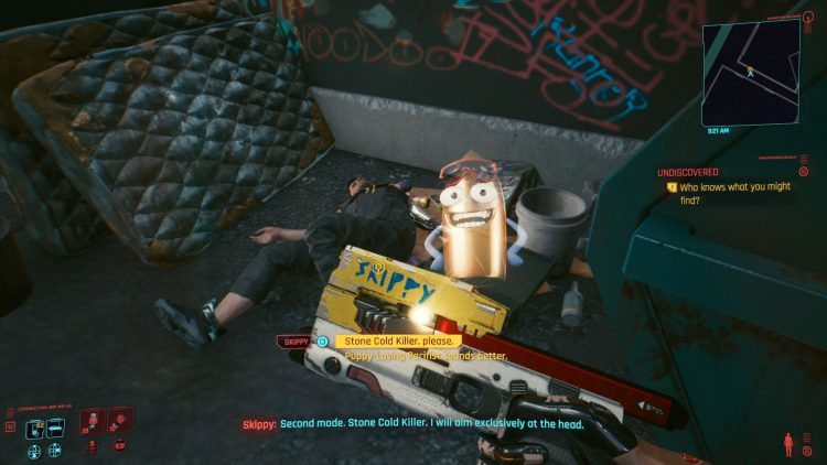 Image showing the Skippy modes in Cyberpunk 2077.