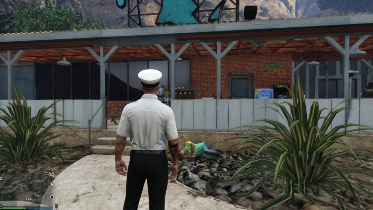 Image showing the sleeping guard world event in GTA Online.