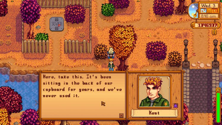 Image showing Who to Give the Old War Photo To in Stardew Valley.
