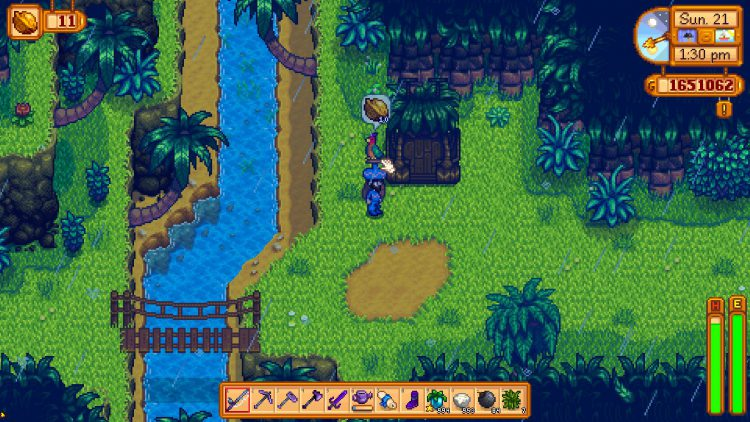 Image showing the Parrot Express in Stardew Valley.