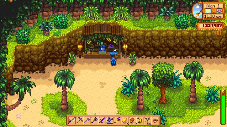 Image showing the Trading Hut in Stardew Valley.