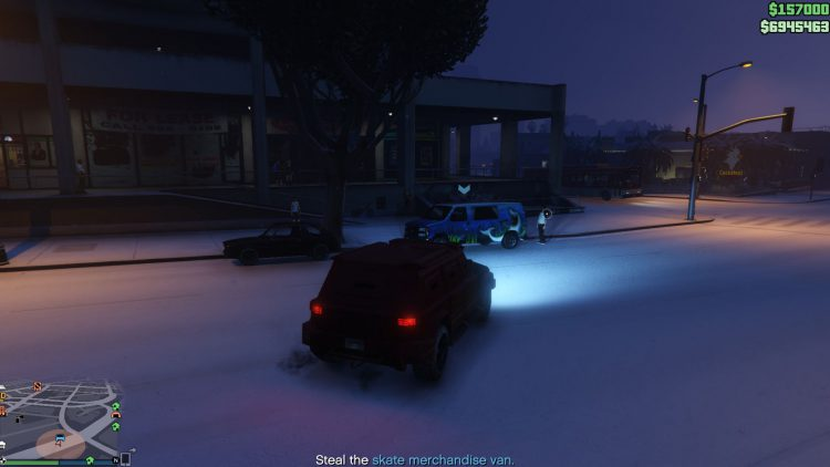 Image showing the skate merchandise van in GTA Online.