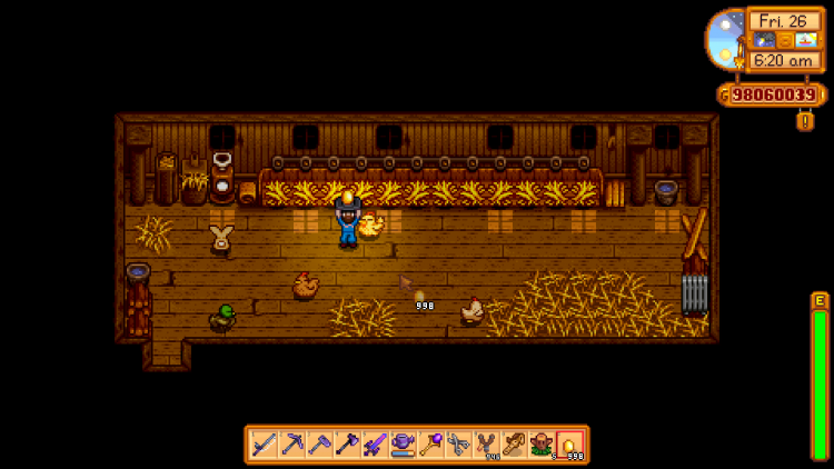 Image showing the Golden Egg and Golden Chicken in Stardew Valley.