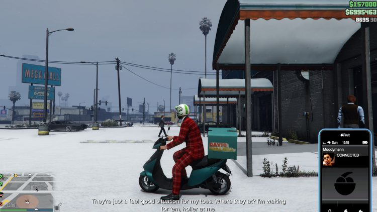 Image showing collecting Moodymann's slippers in GTA Online.
