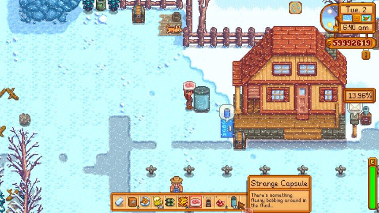 Image showing the Strange Capsule in Stardew Valley.