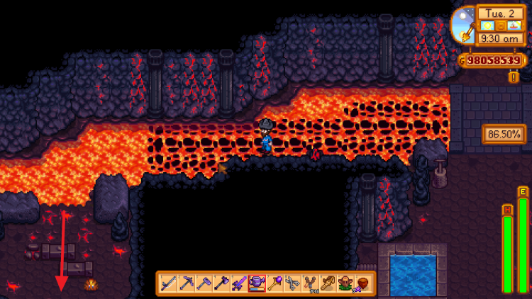 Image showing where to go to get the Squirrel Figurine in Stardew Valley.